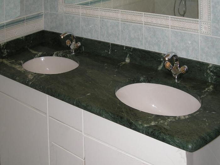 Salle de bain en marbre vert Guatemala Arthur Créations - Nos créations